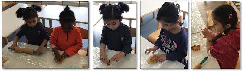 childrens making ginger bread man
