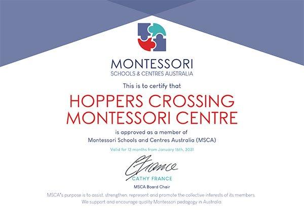 MSCA Membership Certificate