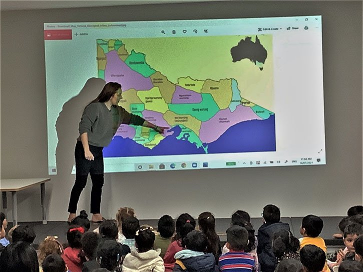 ms hayley started the session by showing the map of victoria